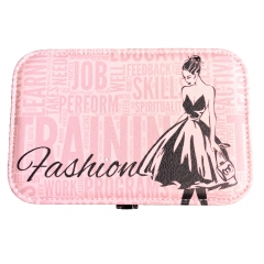 Fashion Lady Travel Jewelry Box Organizer (Pink)