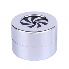 Rotating Ring Box Holder for Engagement Wedding Anniversary Valentine Present Gift Stainless Steel Jewelry Case