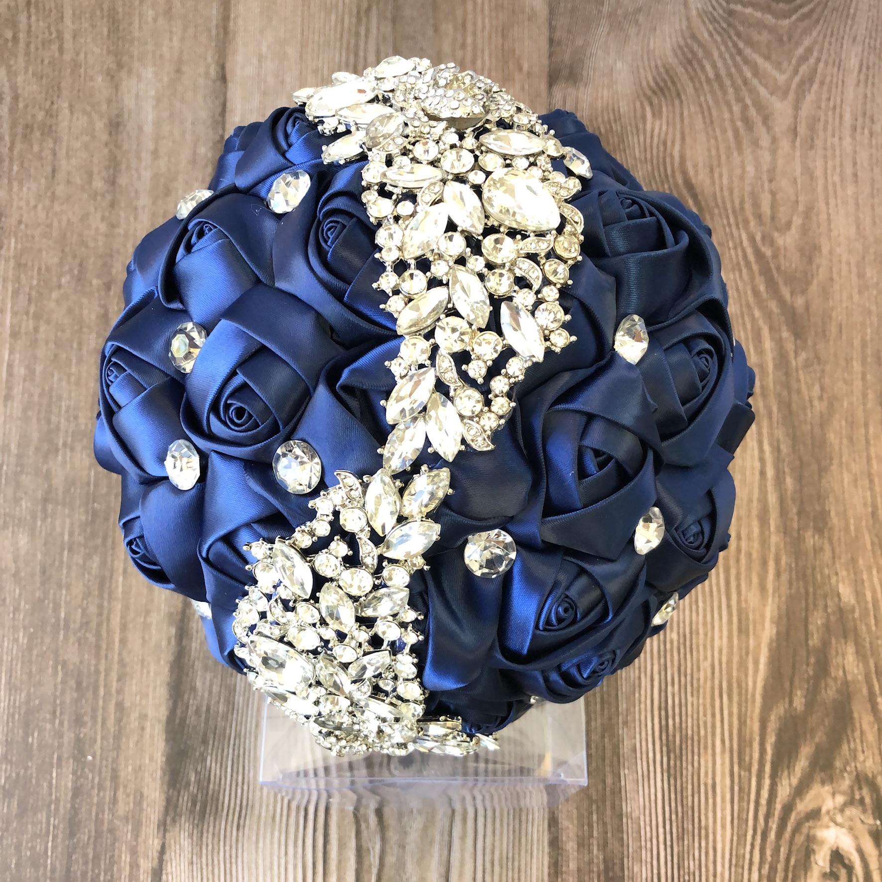 AB /& Clear Rhinestone flower Bridal wedding Bouquet Brooch pin Silver tone Brooch Sash Brooch Bridal dress Brooch Brooch for clutch