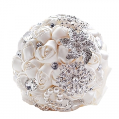 Advanced Customize Brooch Bouquet Rose with Pearls and Rhinestone
