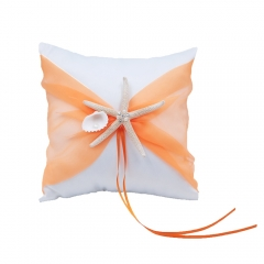 Organza Bowknot Wedding Ring Bearer Pillow Romantic Beach Wedding Orange