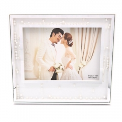 "5x7""8x10"" Wedding Picture Display with Pearls Detail for Anniversary"