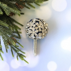 Luxury Brooch Rhinestone Jewelry Covered Boutonniere