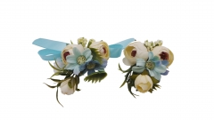 Wrist Corsage Brooch Boutonniere Set Party Prom Peony Flower