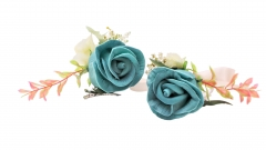 Prom Corsage Boutonniere Set Rose Flower Pin