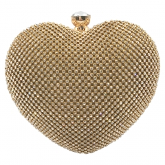 Heart Shaped Evening Bag Gold
