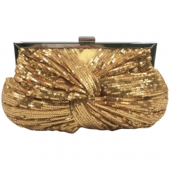 Gold Sequins Evening Bag