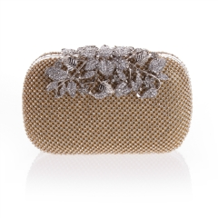 FULL Rhinestone Covered Jewelry Décor Women's Clutch Gold