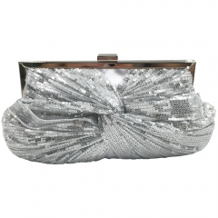 Sparkle Sequins Evening Bag Silver