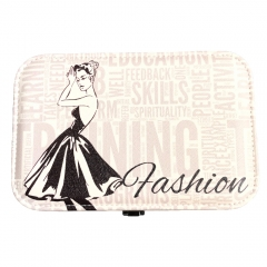 Fashion Lady Travel Jewelry Box Organizer (Ivory)