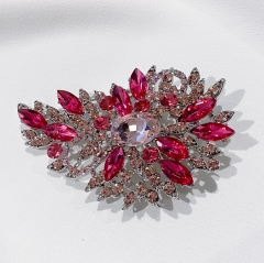 Hot Pink Vintage Sparkle Rhinestone Crystal Brooch Pin for Sweater Shawl Hat Coat Bouquet